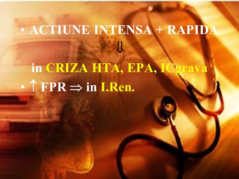 ACTIUNE INTENSA + RAPIDA in CRIZA HTA, EPA, ICgrava FPR in I.Ren.