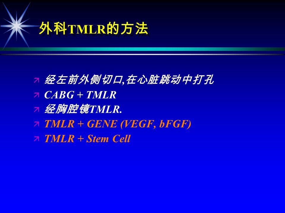 TMLR/PTMR ä CO 2 ä CO 2 TMR 1998 8 FDA ä Ho:YAG ä Ho:YAG TMR: 1999 FDA