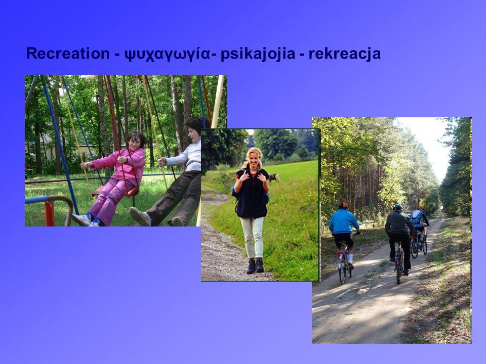 Recreation - ψυχαγωγία- psikajojia - rekreacja