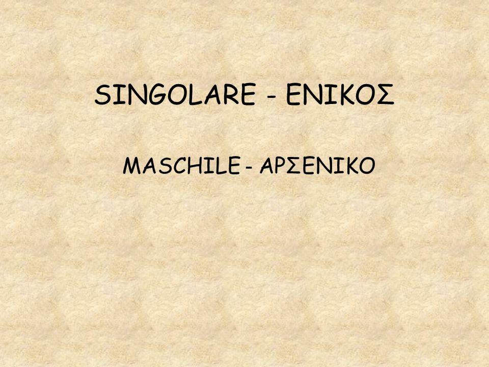 SINGOLARE - ΕΝΙΚΟΣ MASCHILE - ΑΡΣΕΝΙΚΟ