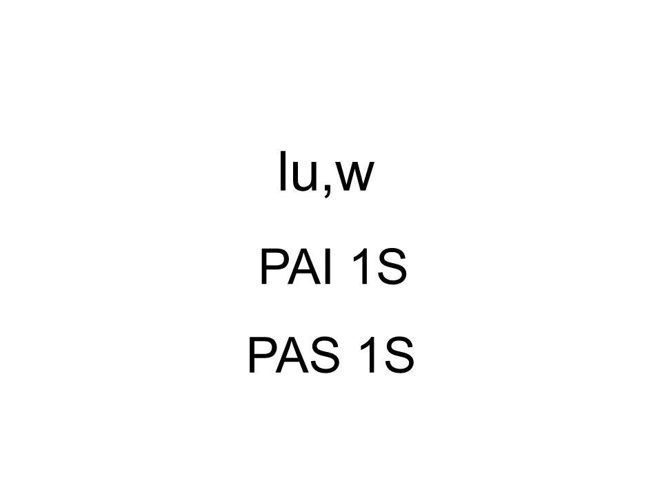 PAI 1S lu,w PAS 1S