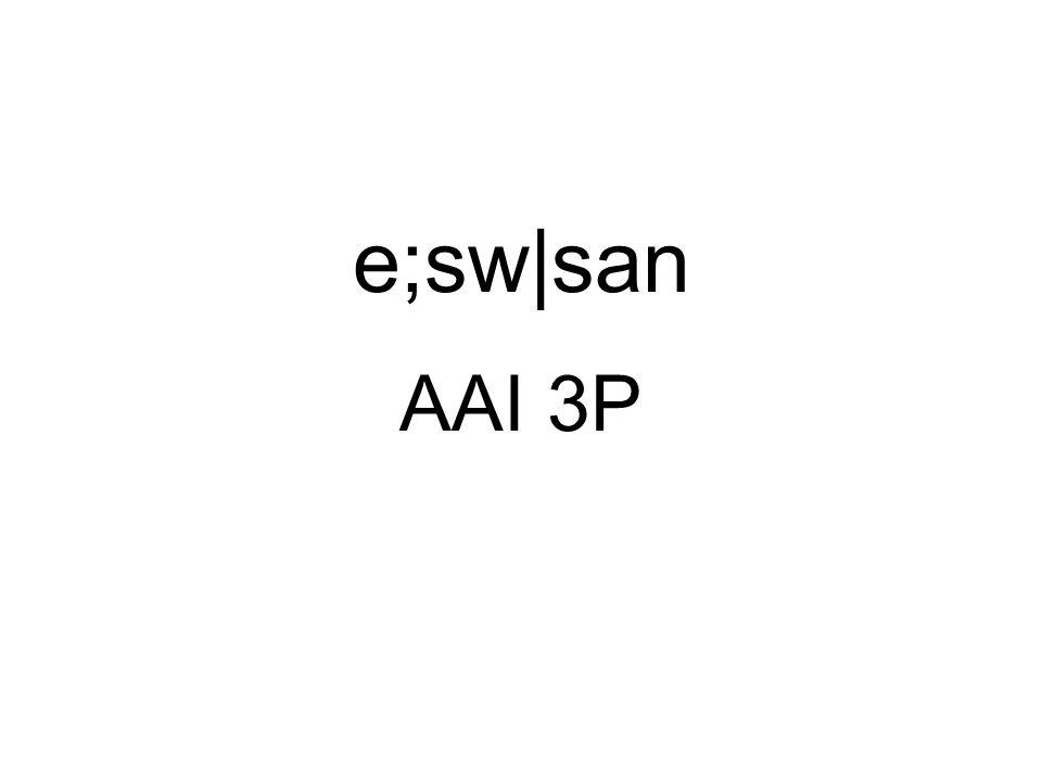 AAI 3P e;sw|san