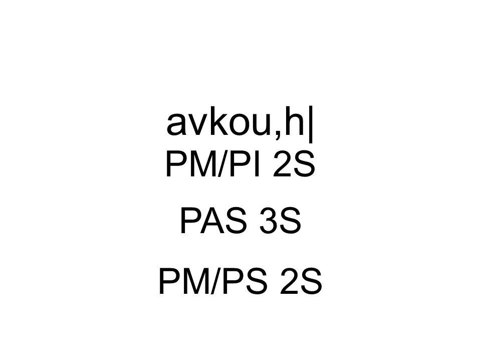 PAS 3S avkou,h| PM/PS 2S PM/PI 2S
