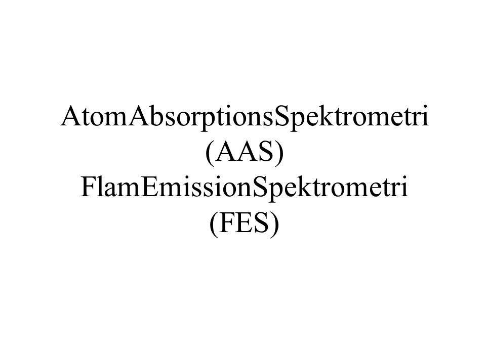 AtomAbsorptionsSpektrometri (AAS) FlamEmissionSpektrometri (FES)