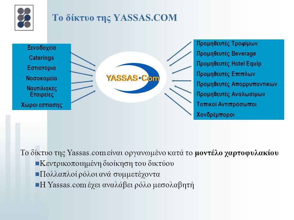 YASSAS.COM  Iδρύθηκε τον Αύγουστο του 2000 ως ένας από τους πρώτους ελληνικούς παροχείς υπηρεσιών εμπορίου μέσω του Διαδικτύου ανάμεσα σε επιχειρήσει