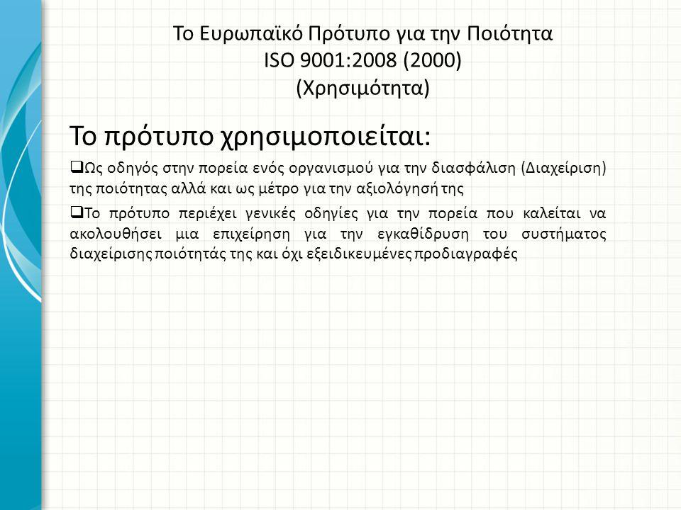 ΒΙΒΛΙΟΓΡΑΦΙΑ Ακριβός Χριστόδουλος, Ψαρόπουλος Χρήστος2008 Η Διοίκηση Ολικής Ποιότητας στις Υπηρεσίες του Δημοσίου και στον Χώρο της Εκπαίδευσης, Αθήνα Ελληνικός Οργανισμός Τυποποίησης (2008) « Ελληνικό Πρότυπο ΕΝ ISO 9001:2008», Αθήνα Κατσαμπάνης Παναγιώτης (2003) « Το Πρότυπο ISO 9001:2000 με απλά λόγια».
