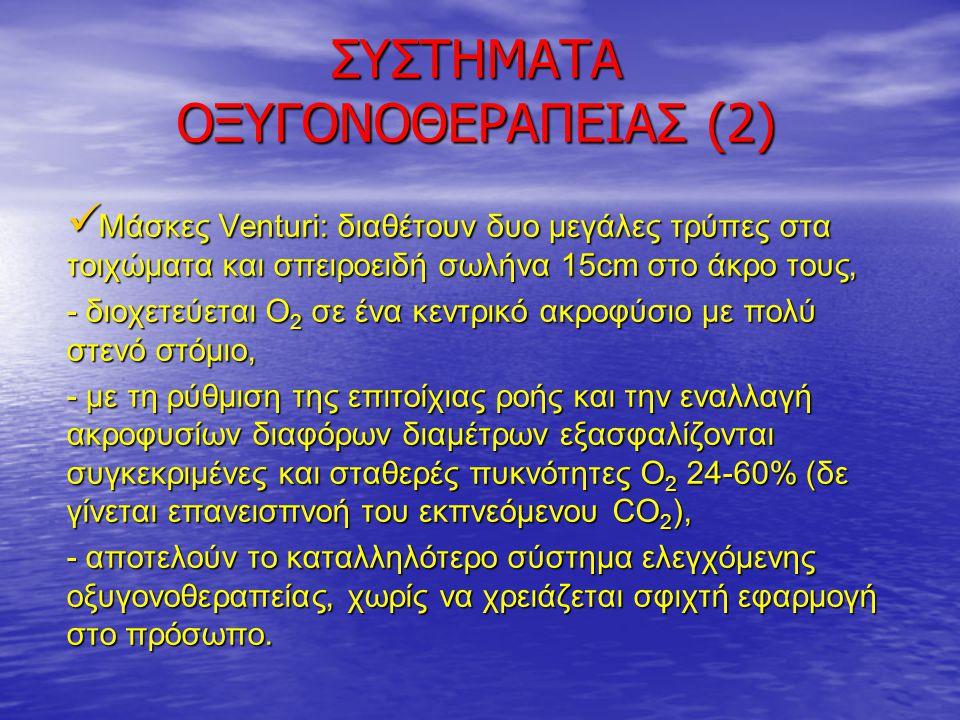 ΣΥΣΤΗΜΑΤΑ ΟΞΥΓΟΝΟΘΕΡΑΠΕΙΑΣ (3) Κύκλωμα Τ: προσαρμόζεται στον ΕΔΤ σωλήνα ή στο τραχειόστομα, Κύκλωμα Τ: προσαρμόζεται στον ΕΔΤ σωλήνα ή στο τραχειόστομα, - ευρεία εφαρμογή στο weaning.