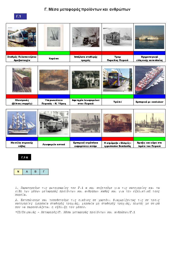 Γ.Μέσα μεταφοράς προϊόντων και ανθρώπων Γ.1 Γ.1 α 1.