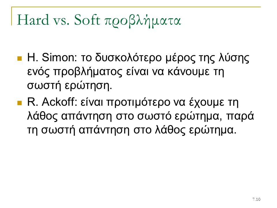 7.10 Hard vs.Soft προβλήματα H.