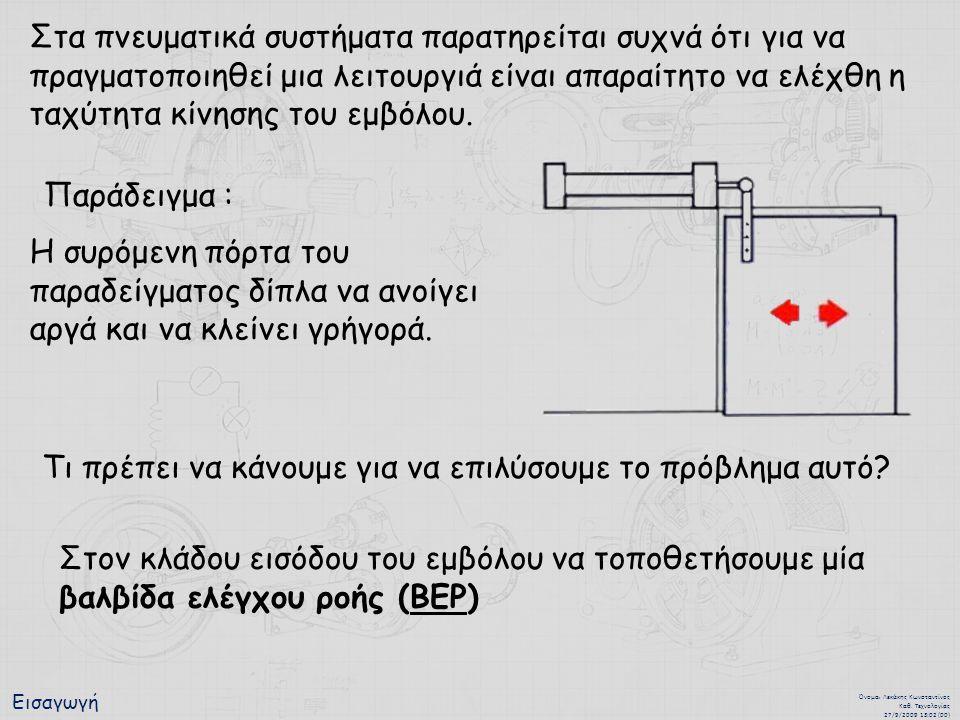 Εισαγωγή Όνομα : Λεκάκης Κωνσταντίνος Καθ. Τεχνολογίας 27/9/2009 13:02 (00) Στα πνευματικά συστήματα παρατηρείται συχνά ότι για να πραγματοποιηθεί μια