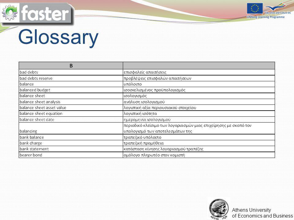 FASTER LOGO Athens University of Economics and Business Glossary