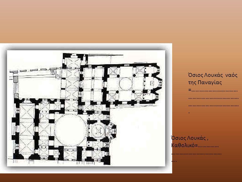 Βυζαντινή αρχιτεκτονική: ρυθμοί Αγιορείτικος τρίκογχος τύπος που αποτελεί παραλλαγή του σύνθετου σταυροειδoύς εγγεγραμμένου με τρούλο τύπου, στον οποίο η βόρεια και νότια κεραία απολήγουν σε κόγχη.