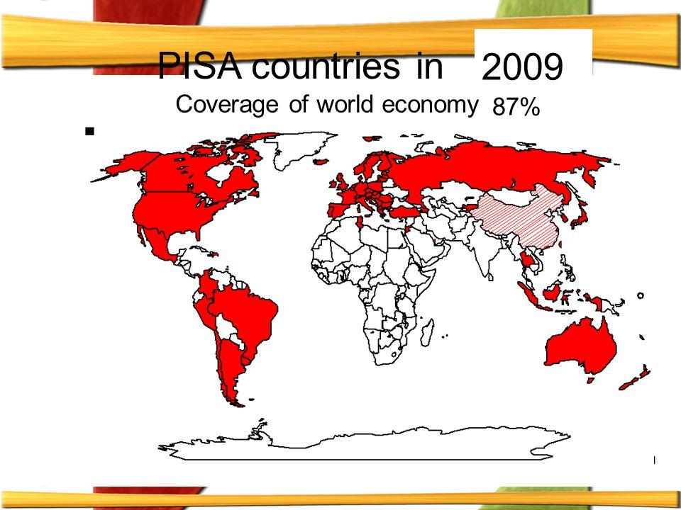 Μέχρι το 2009 έχουν συμμετάσχει στο PISA περισσότερες από 70 χώρες συνολικά, που είναι χώρες μέλη του ΟΟΣΑ αλλά και χώρες εκτός ΟΟΣΑ.