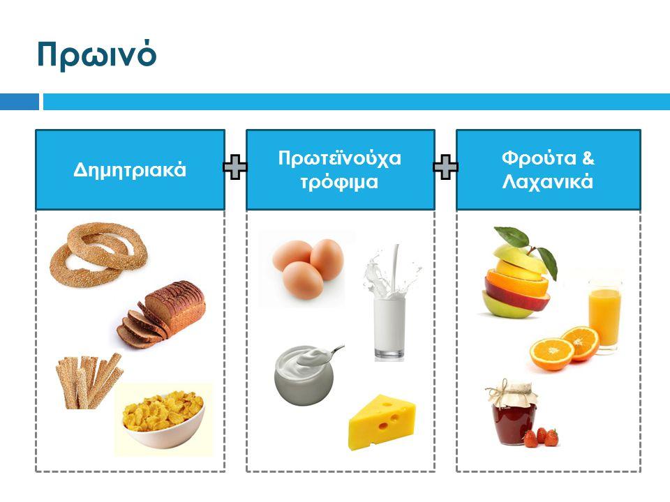 Πρωινό Δημητριακά Πρωτεϊνούχα τρόφιμα Φρούτα & Λαχανικά