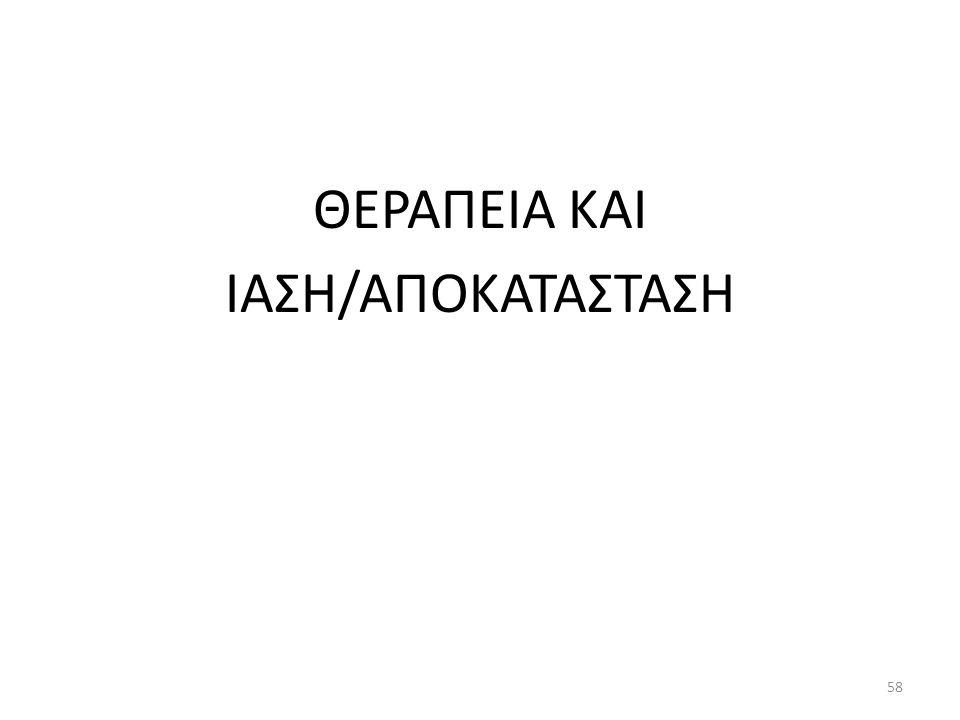 ΘΕΡΑΠΕΙΑ ΚΑΙ ΙΑΣΗ/ΑΠΟΚΑΤΑΣΤΑΣΗ 58