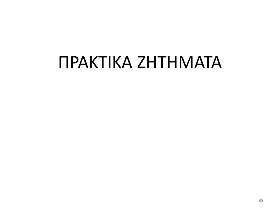 ΠΡΑΚΤΙΚΑ ΖΗΤΗΜΑΤΑ 88