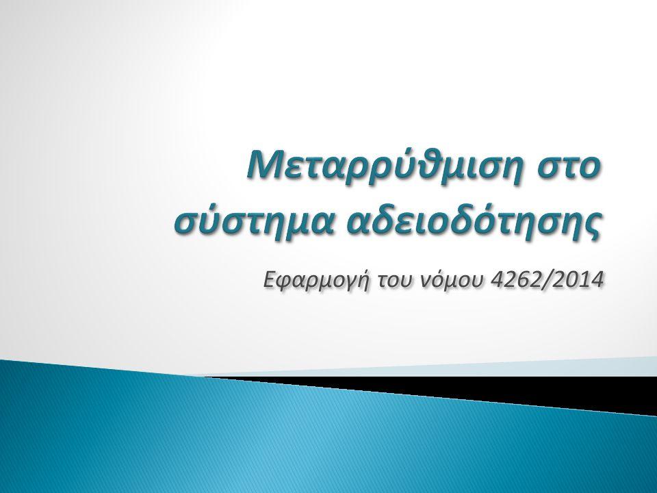 Εφαρμογή του νόμου 4262/2014