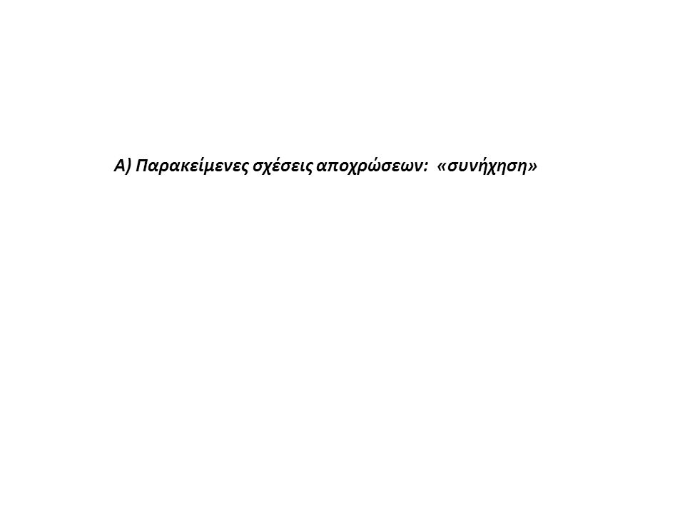 Α) Παρακείμενες σχέσεις αποχρώσεων: «συνήχηση»