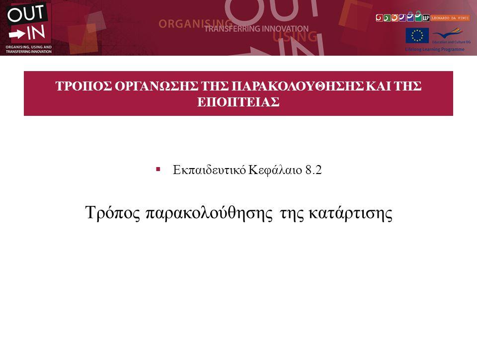 ΤΡΟΠΟΣ ΟΡΓΑΝΩΣΗΣ ΤΗΣ ΠΑΡΑΚΟΛΟΥΘΗΣΗΣ ΚΑΙ ΤΗΣ ΕΠΟΠΤΕΙΑΣ  Εκπαιδευτικό Κεφάλαιο 8.2 Τρόπος παρακολούθησης της κατάρτισης