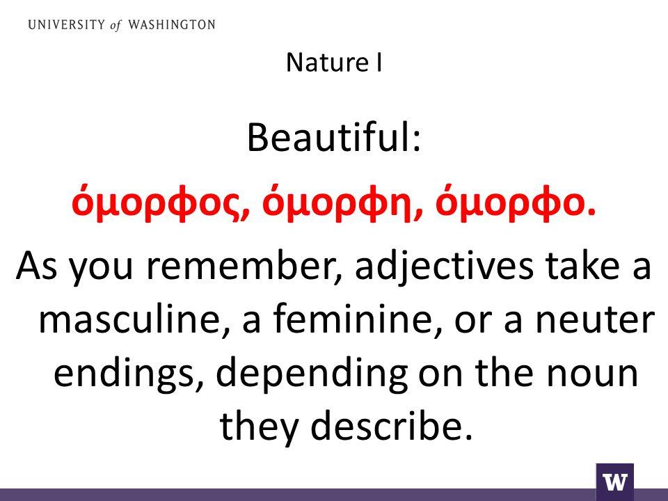 Nature I Beautiful: όμορφος, όμορφη, όμορφο.
