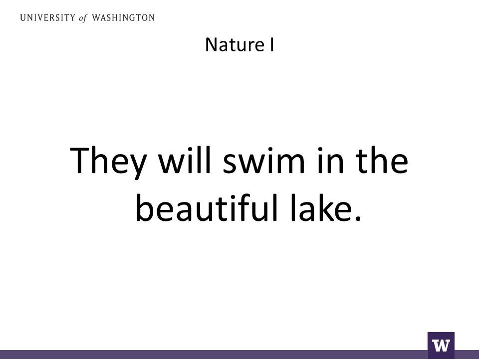 Nature I They will swim in the beautiful lake.