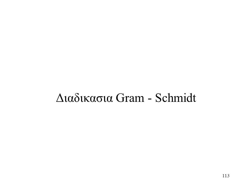 113 Διαδικασια Gram - Schmidt