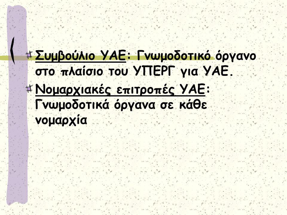 Συμβούλιο ΥΑΕ: Γνωμοδοτικό όργανο στο πλαίσιο του ΥΠΕΡΓ για ΥΑΕ.