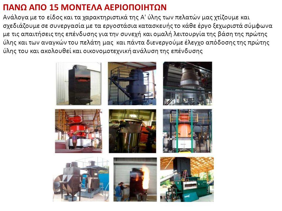 Μηχανή ανάκτησης Θερμότητας Αεριοποιητής Κινητήρας Φίλτρα αερίου
