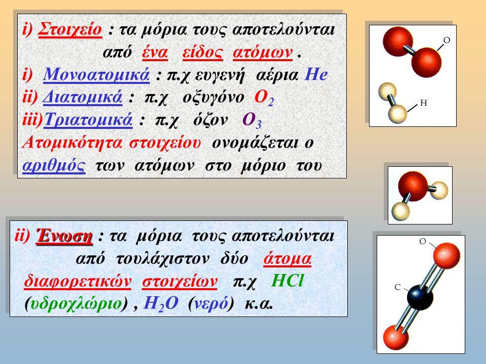 α) Γράφουμε αναλυτικά την περιεκτικότητα που δίνεται : β) Τοποθετούμε το δεδομένο κάτω από το ομοειδές μέγεθος στην έκφραση περιεκτικότητας : γ) Με την απλή μέθοδο βρίσκουμε το ζητούμενο : Στα 100 mL Δ/τος Στα 700 mL Δ/τος περιέχονται 40 mL αλκοόλη » χ ; mL αλκοόλη = Παράδειγμα 4 ο : Πόσα mL αλκοόλη περιέχονται σε ένα μπουκάλι ουίσκι που έχει όγκο V = 700 mL και περιεκτ.