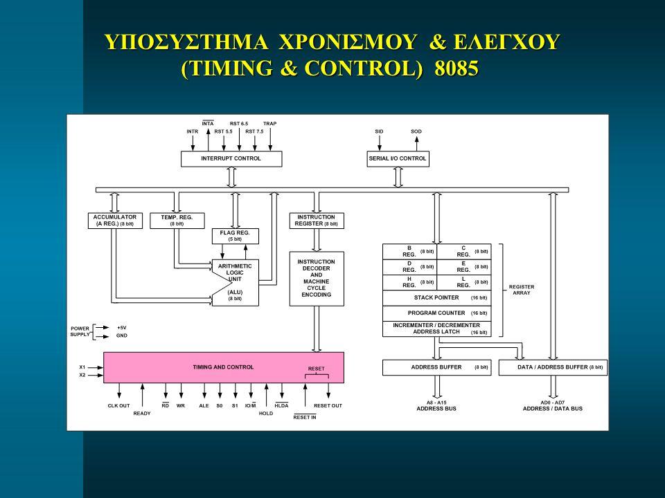 ΥΠΟΣΥΣΤΗΜΑ ΧΡΟΝΙΣΜΟΥ & ΕΛΕΓΧΟΥ ΥΠΟΣΥΣΤΗΜΑ ΧΡΟΝΙΣΜΟΥ & ΕΛΕΓΧΟΥ (TIMING & CONTROL) 8085