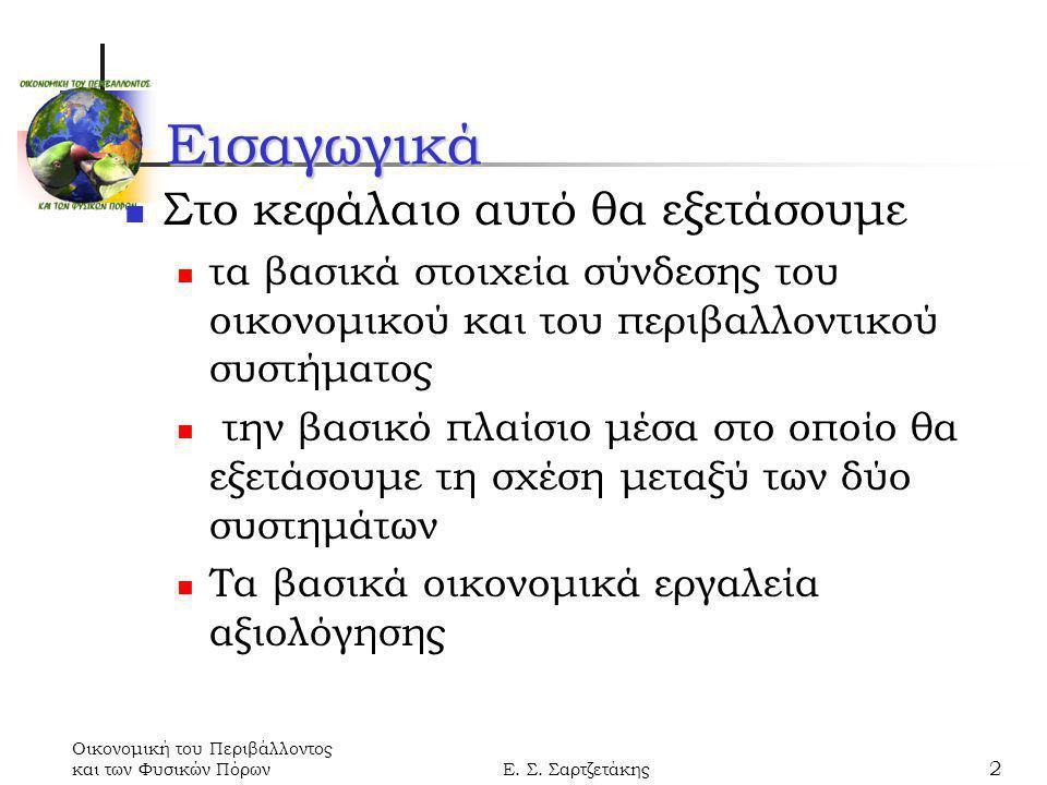 Οικονομική του Περιβάλλοντος και των Φυσικών ΠόρωνΕ.