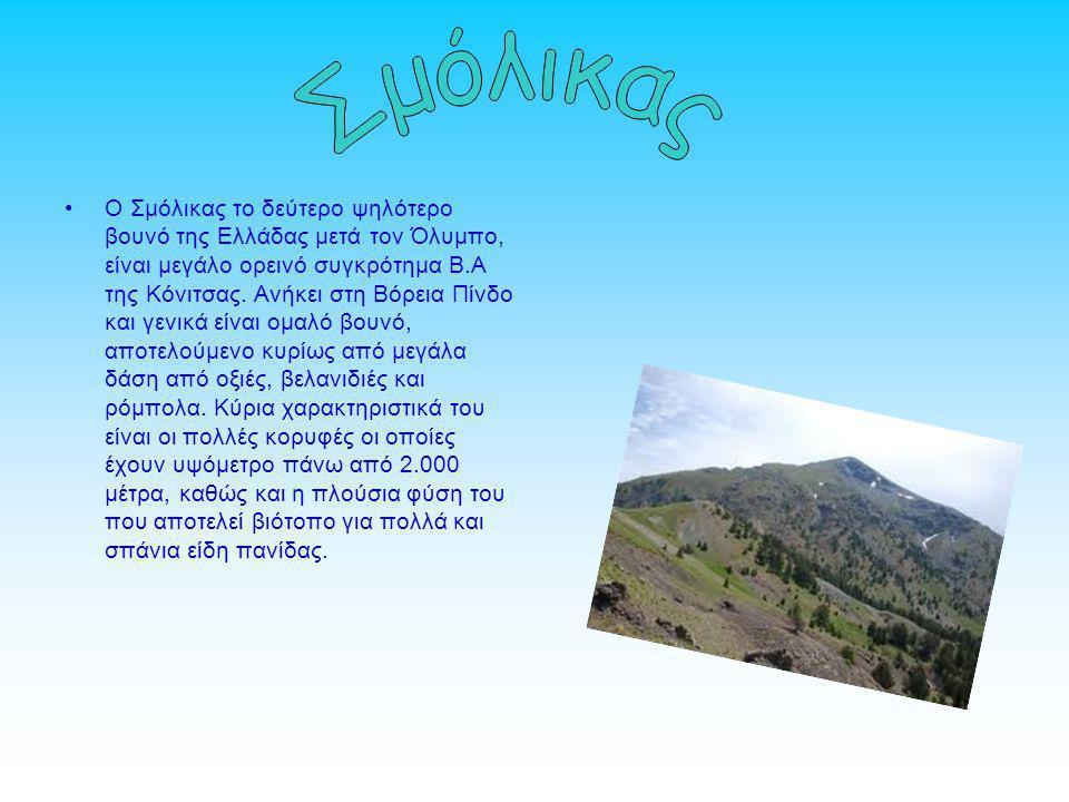 Ο Σμόλικας το δεύτερο ψηλότερο βουνό της Ελλάδας μετά τον Όλυμπο, είναι μεγάλο ορεινό συγκρότημα Β.Α της Κόνιτσας.
