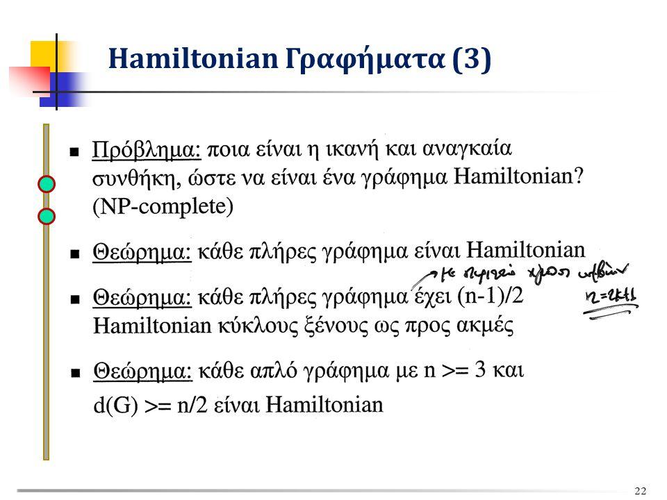 Hamiltonian Γραφήματα (3) 22