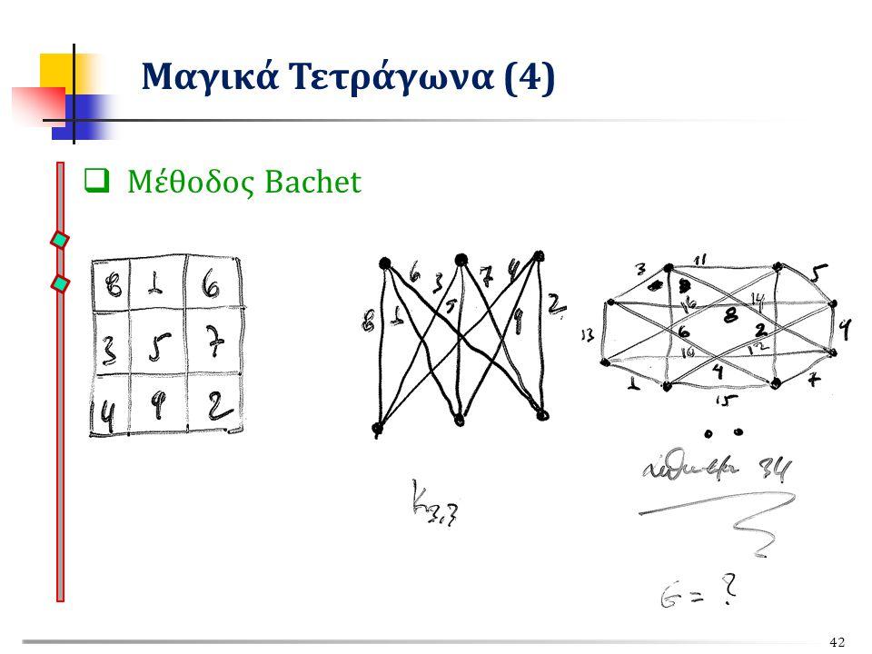 Μέθοδος Bachet Μαγικά Τετράγωνα (4) 42