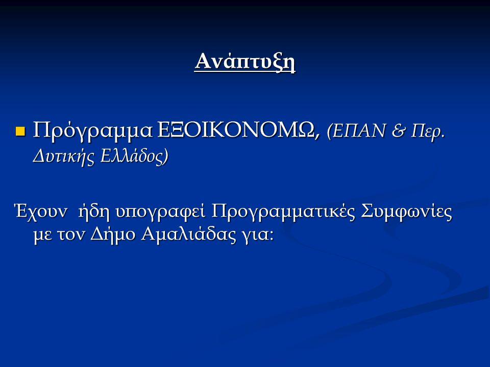 Προγραμματική Συμφωνία Νο1 1.Ανάπλαση Χώρων Συνοικιών (Τμ.