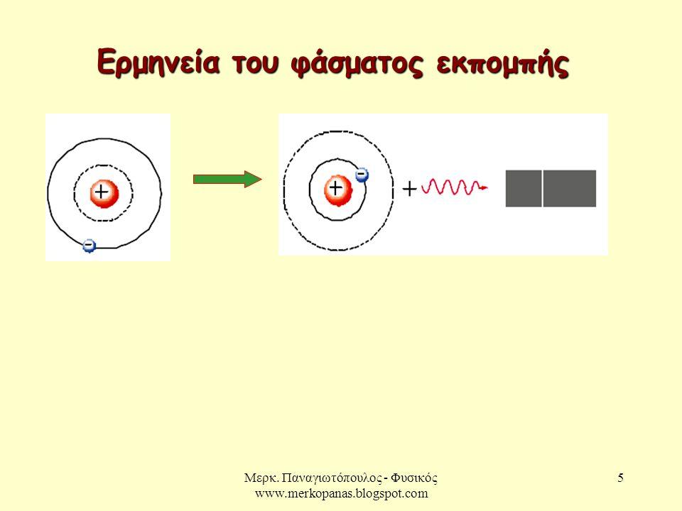 Μερκ. Παναγιωτόπουλος - Φυσικός www.merkopanas.blogspot.com 5 Ερμηνεία του φάσματος εκπομπής