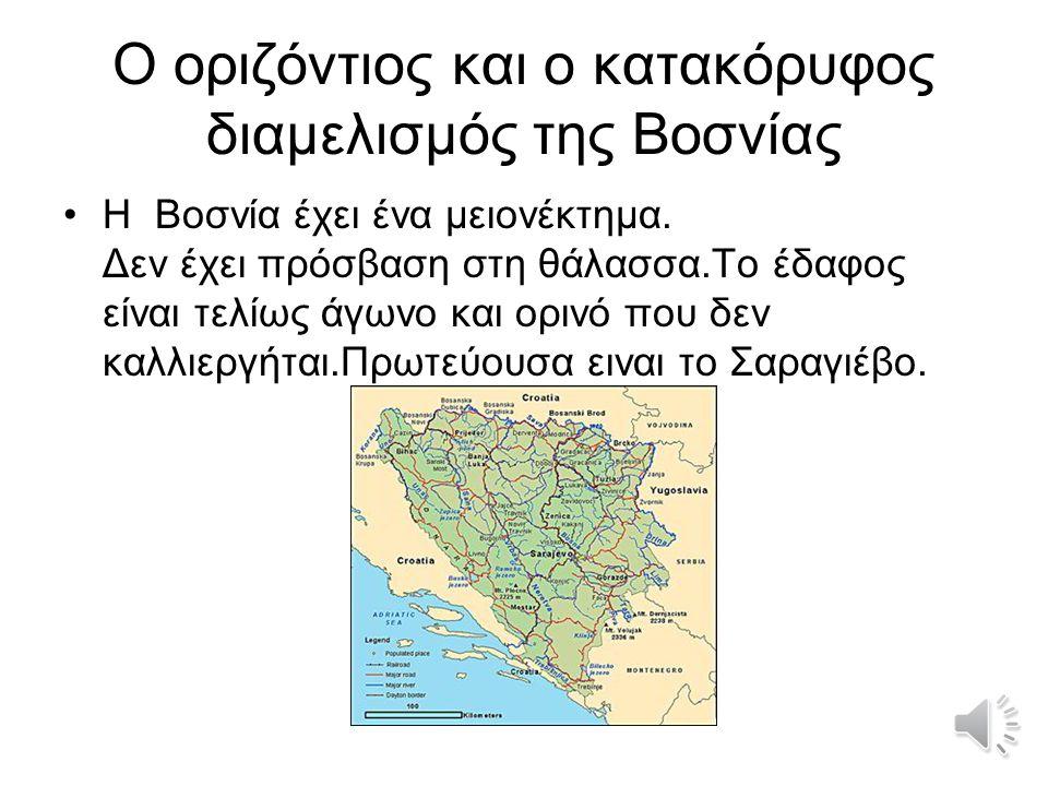 Οι μικτές εθνότητες της Βοσνίας Η χώρα είναι η πατρίδα τριών συστατικών εθνοτήτων: των Βοσνίων Μουσουλμάνων, των Σέρβων Ορθόδοξων και των Κροατών Καθολικών.Βοσνίων ΜουσουλμάνωνΣέρβωνΚροατών Ο πόλεμος δημιουργήθηκε λόγω των θρησκευτικών διαφωνιών ανάμεσα στις τρεις εθνικές μειωνότητες - θρησκίες που αποτελούσαν την τότε Γιουγκοσλαβία που μέχρι και σήμερα υπάρχουν και μισιούνται τρομερά