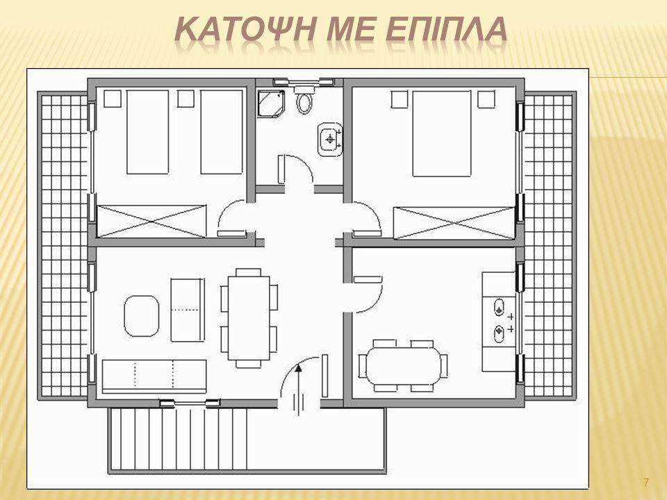 8 Τα φωτιστικά σημεία οροφής τοποθετούνται στο κέντρο της οροφής.