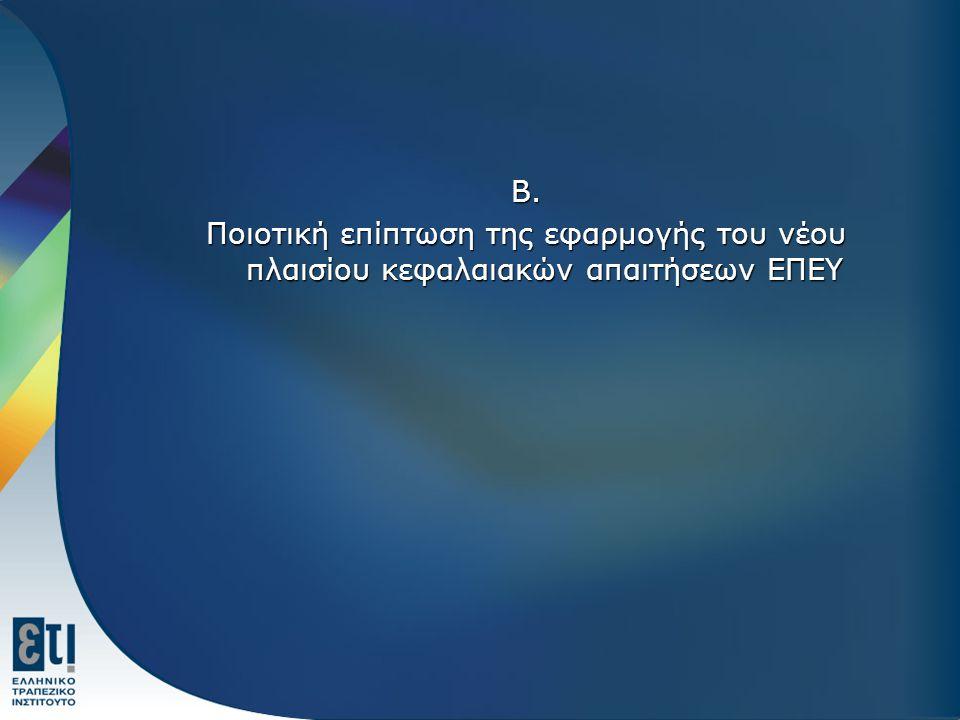 Β. Ποιοτική επίπτωση της εφαρμογής του νέου πλαισίου κεφαλαιακών απαιτήσεων ΕΠΕΥ