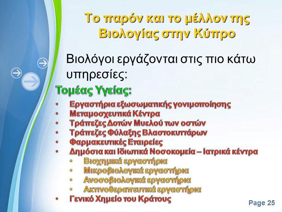 Powerpoint Templates Page 24 Το παρόν και το μέλλον της Βιολογίας στον Κόσμο Οι 10 σημαντικότερες επιστημονικές ανακαλύψεις 2008-2011