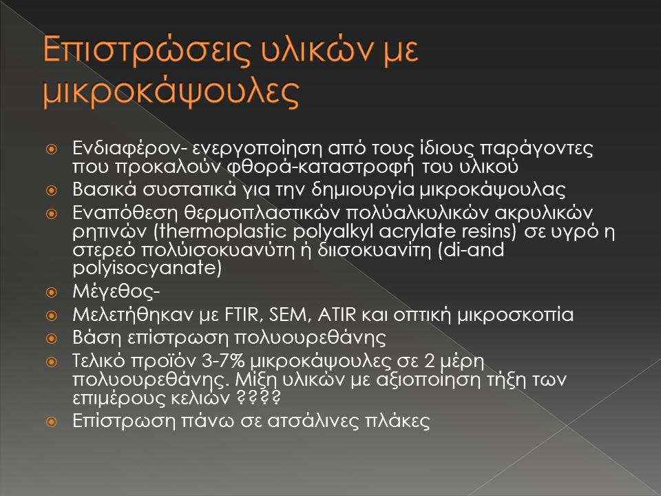  Παρασκευή αυτοϊούμενου υλικού ( στην προκειμένη περίπτωση επίστρωση με βάση πολυουρεθάνη και εγκλείσματα μικροκαψουλών)  Μελέτη δείγματος χρησιμοποιώντας › Επιταχυνόμενα καιρικά φαινόμενα › Έκθεση σε υδατικά διαλύματα-διαπερατότητα νερού Σκοπός