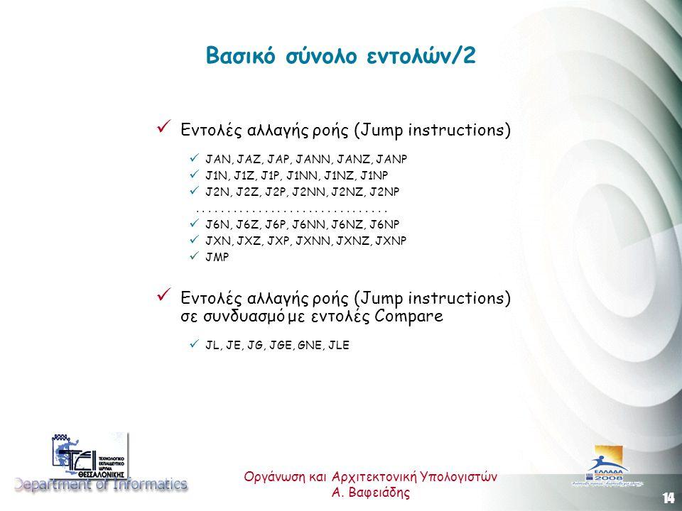 14 Οργάνωση και Αρχιτεκτονική Υπολογιστών A.