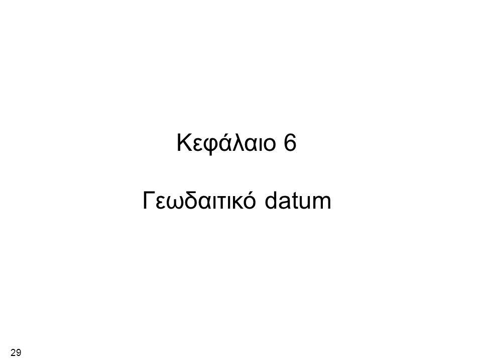 29 Κεφάλαιο 6 Γεωδαιτικό datum