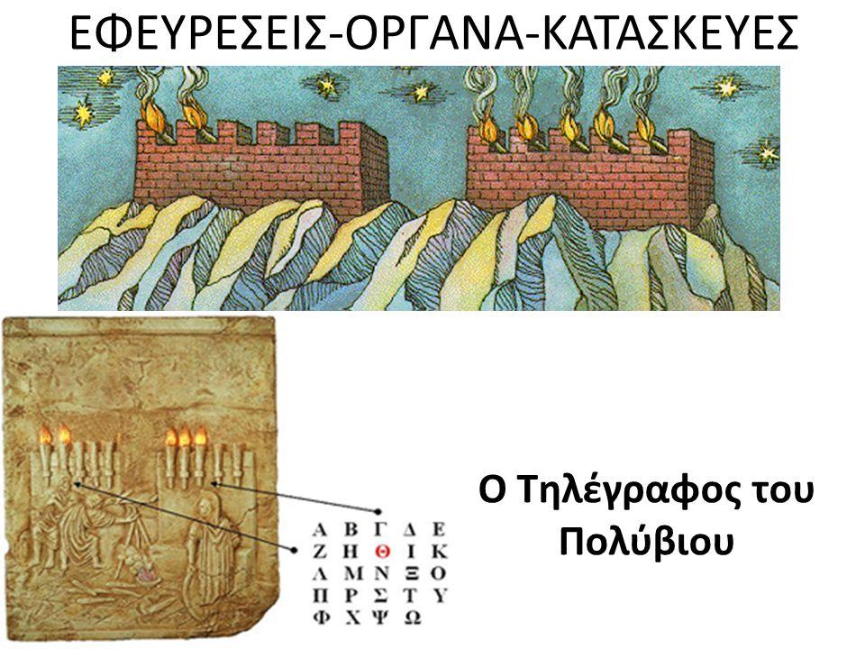 ΕΦΕΥΡΕΣΕΙΣ-ΟΡΓΑΝΑ-ΚΑΤΑΣΚΕΥΕΣ Ο Τηλέγραφος του Πολύβιου