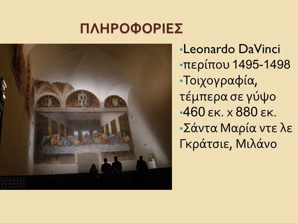 """ΕΡΓΑΣΙΑ ΦΥΣΙΚΗΣ Α ' ΛΥΚΕΙΟΥ """" ΜΥΣΤΙΚΟΣ ΔΕΙΠΝΟΣ """" Leonardo DaVinci"""