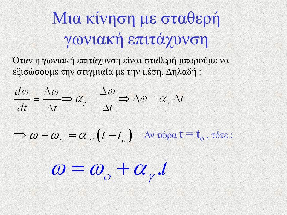 Η επιτρόχια επιτάχυνση έχει μέτρο : Όπου dυ η μεταβολή του μέτρου της ταχύτητας. Επομένως : Το R είναι σταθερό αν η κίνηση είναι κυκλική.