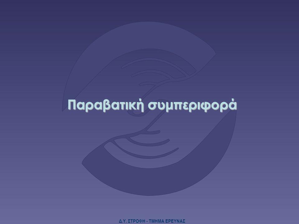 Δ.Υ. ΣΤΡΟΦΗ - ΤΜΗΜΑ ΕΡΕΥΝΑΣ Παραβατική συμπεριφορά