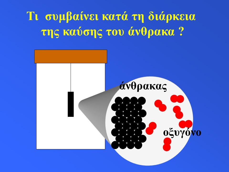 άνθρακας οξυγόνο Τι συμβαίνει κατά τη διάρκεια της καύσης του άνθρακα ?