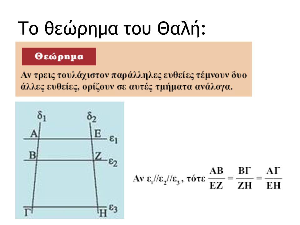 Το θεώρημα του Θαλή: