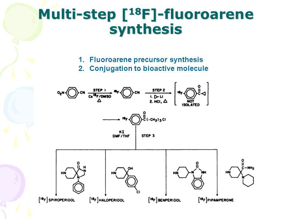Multi-step [ 18 F]-fluoroarene synthesis 1.Fluoroarene precursor synthesis 2.Conjugation to bioactive molecule